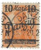Allemagne / Danzig 1920 - Michel 46III - Oblitéré