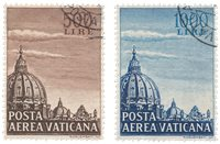 Vatican 1953 - Sassone 22/23 - Oblitéré