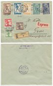 Jugoslavien 1919/1920 - Michel 99/106 I - Stemplet