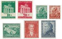 Tyskland Zoner 1948/1949 - Michel 101/102+106/110 - Postfrisk