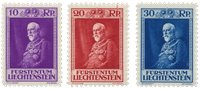 Liechtenstein 1933 - Michel 122/124 - Neuf