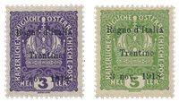 Italien 1918 - Sassone 1/2 - Postfrisk