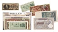 WWII Banknote Collection - 5 banknotes