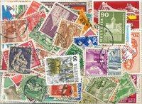 Schweiz - 210 forskellige stemplede frimærker