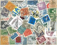 Sverige - 310 forskellige stemplede frimærker