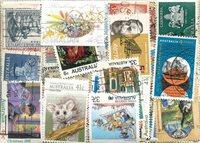 Australien - 200 forskellige stemplede frimærker