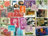 Grande-Bretagne - 610 timbres obl. différents
