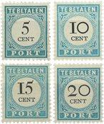 Holland 1881/1887 - NVPH P6/P7 en P9/P10 - Ubrugt