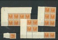 Danmark - AFA 63 postfrisk lot med 21 stk.