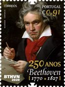 Portugal - Ludwig van Beethoven, 250 ans - Timbre neuf