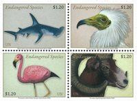 United Nations New York - Endangered species 2020 - Mint set 4v