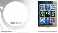 Grande-Bretagne - James Bond - Env.premier jour avec bloc du carnet de prestige