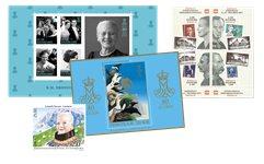 Dronning Margrethe 80 år - Samlet tilbud - Danmark miniark, Grønland frimærke, Færøerne miniark /gratis Hafnia 2001