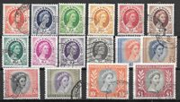 British Colonies 1954 - Mic.  1-16 - Cancelled