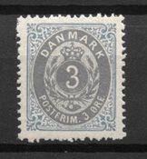 Dinamarca 1875 - AFA 22y - nuevo