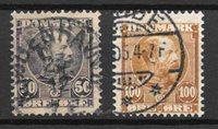 Dinamarca 1905 - AFA 50-51 - usado