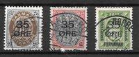 Dinamarca 1912 - AFA 60-62 - usado