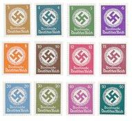 Tyskland - Tyske Rige 1942/1944 - Michel D166/177 - Postfrisk