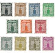 Tyskland - Tyske Rige 1938 - Michel D144/154 - Postfrisk