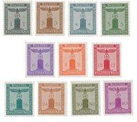 Tyskland - Tyske Rige 1942 - Michel D155/165 - Postfrisk