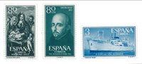 Spanien 1955/1956 - Michel 1064+1069+1088 - Postfrisk