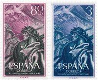 Spanien 1956 - Michel 1086/1087 - Postfrisk