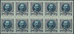 Danemark - AFA 56 bloc de 10, timbres neufs avec ch.