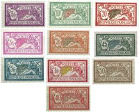 France - Composition with 10 Merson type stamps - Mint
