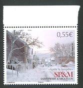 St. Pierre & Miquelon - Efter snestormen - Postfrisk frimærke