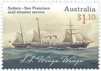 Australie - Bateau à vapeur Sydney-San Francisco - Timbre neuf