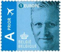 Belgien - Philippe/blå - Postfrisk frimærke