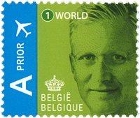 Belgien - Philippe/grøn - Postfrisk frimærke
