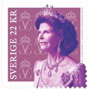 Suède - Reine Siliva timbre d'usage courant - Timbre neuf de rouleau