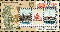 Tanska - Eurooppa 202 - Muinaiset postireitit - Postituore pienoisarkki