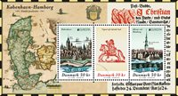 Denemarken - Europa 2020 Oude Postroutes - Postfris souvenirvelletje