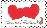 Finlande - 2 coeurs - Timbre neuf