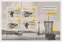 Liechtenstein - Eurooppa 2020 - Muinaiset postireitit - Postituore pienoisarkki