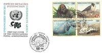 FN Geneve - Truede dyr 1993 - Førstedagskuvert