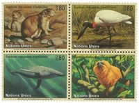 FN Geneve - Truede dyr 1994 - Postfrisk sæt 4v