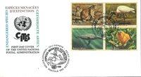 FN Geneve - Truede dyr 1994 - Førstedagskuvert