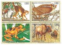 FN Geneve - Truede dyr 1995 - Postfrisk sæ t4v