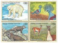 FN Geneve - Truede dyr 1997 - Postfrisk sæt 4v