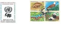 NU New York - Animaux en voie de disparition 1995 - Env.premier jour