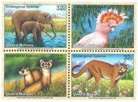 FN New York - Truede dyr 1997 - Postfrisk sæt 4v