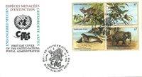 FN Wien - Truede dyr 1994 - Førstedagskuvert