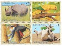 FN Wien - Truede dyr 1995 - postfrisk sæt 4v