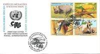 NU Vienne - Animaux en voie de disparition 1995 - Env.premier jour