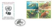 NU Vienne - Animaux en voie de disparition 1998 - Env.premier jour