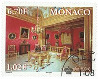 Monaco - Palais princier - Série oblitérée 4v