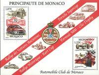 Monaco - Club d'Automobiles, Rally - Bloc-feuillet neuf